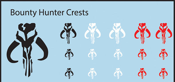 Pop Culture-Decal Galactic Bounty Hunter Crests