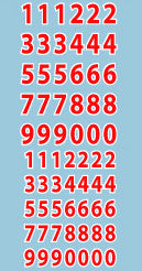 AFV-Decal German Red Numerals