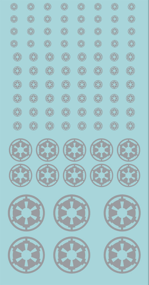 Inf-Decals Sci-Fi Emperor's Faction Vehicle and Infantry (Silver)