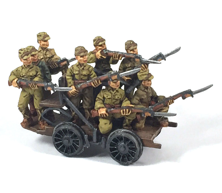 Trains - Japanese Railroad Handcar & Troops(8)