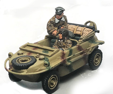 German-AFV Peiper and driver in schwimmwagen