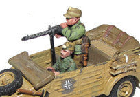 Miniatures German Kubel MG crew (2) DAK