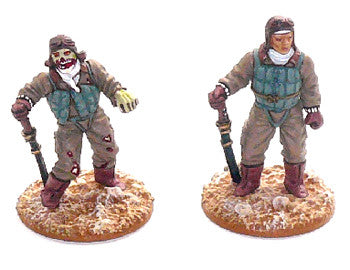 Game Miniatures - Japanese pilot and zombie (resin)