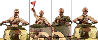 Miniatures Japanese Tank crews  (4)
