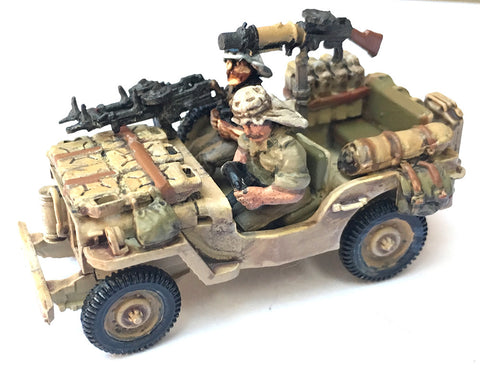 British-AFV Willy's Jeep LRDG/SAS includes crew & stowage