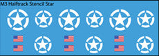 AFV-Decal US M3 Halftrack Stencil Stars