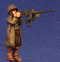 Miniatures US M3/Priest MG gunner greatcoat