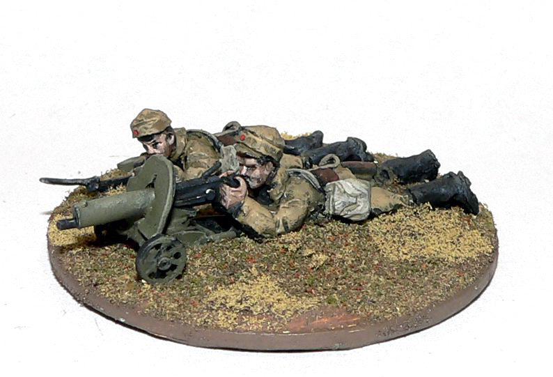Game Miniatures - Mongolian Maxim gun and crew