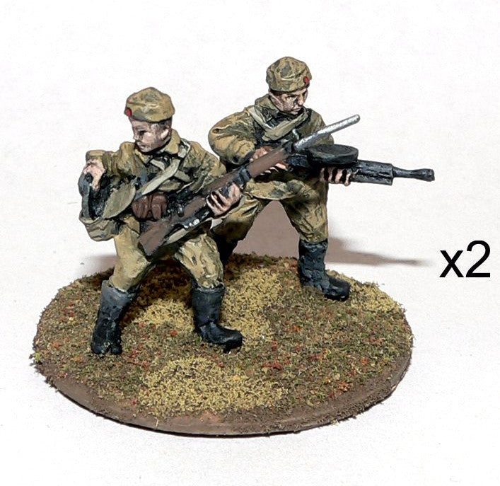 Game Miniatures - Mongolian LMG team (2 teams)