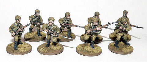 Game Miniatures - Mongolian Rifles Advancing (8)