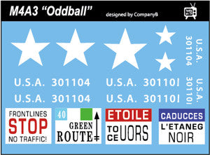 AFV-Decal US M4A3 Oddball  1/56 and 1/35