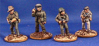 Miniatures US Army Rat Patrol Crew Dismounted (4)