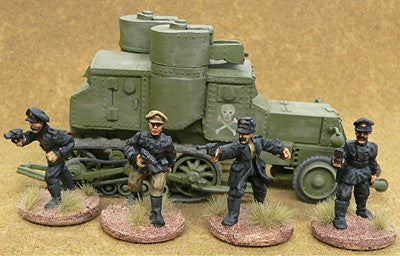 Miniatures RCW Armored Car Crew (4)
