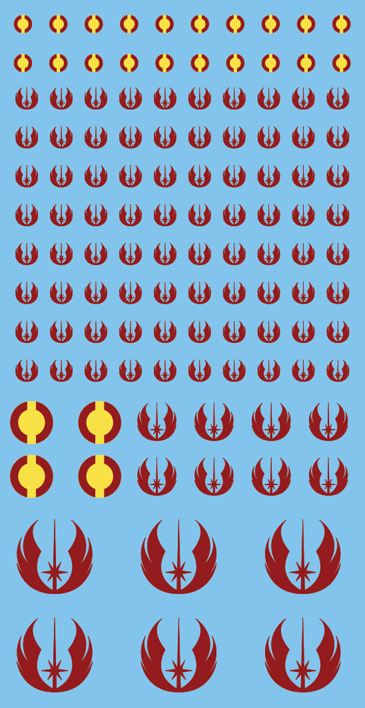 Inf-Decals Sci-Fi  Jedi Maroon and OBKenobi