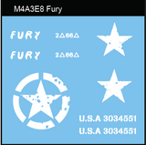 "AFV-Decal US M4A3E8 ""Fury"""