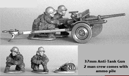 US-ATG 37mm AT gun and Greatcoat crew