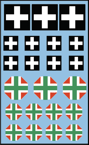AFV-Decal Hungarian  Crosses