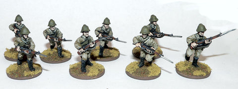 Game Miniatures - Soviet Rifles Advancing (8)