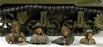Miniatures US Army tanker quarter torsos (4)