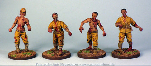 Game Miniatures - Japanese Zombies 28mm