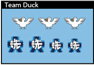 Pop Culture-Decal GuP Duck Team