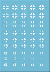 AFV-Decal German White Cross Outline