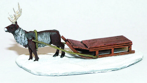 Game Miniatures - Reindeer and Sled