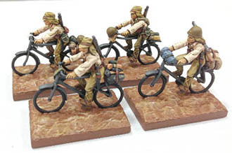 Game Miniatures - IJA Bicycle Troops  Rifles(4)