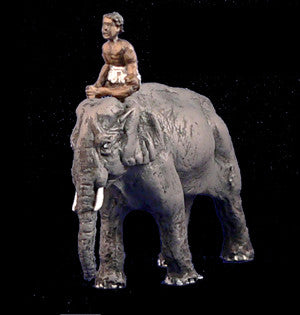 Game Miniatures - Elephant with Native Driver