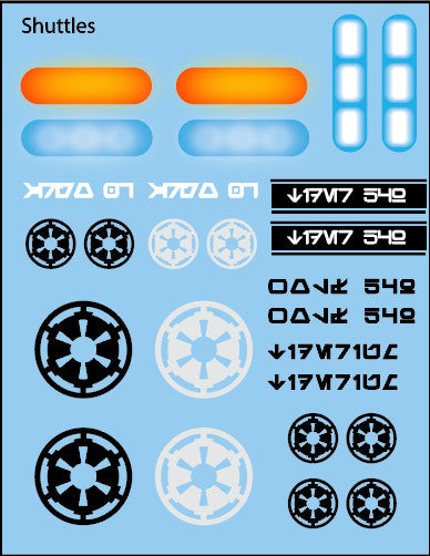 Pop Culture-Decal Galactic Shuttles