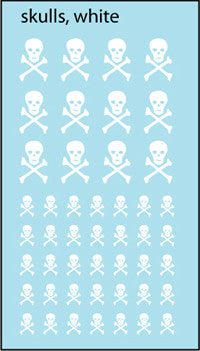 AFV-Decal Russian AC Skulls White