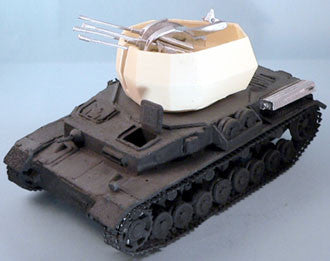 Accessories-AFV Quad AA Turret(Wirbelwind) & gun