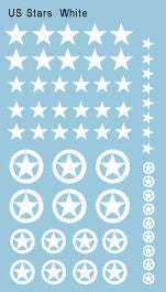 AFV-Decal US Stars White