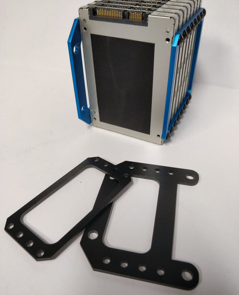 x4 SSD mounting Bracket Black Anodized
