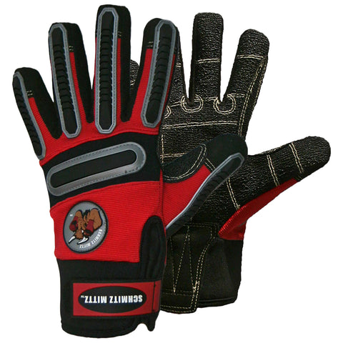 "Schmitz Mittz ""UtilityArmor Waterproof"" Safety Gloves Red"