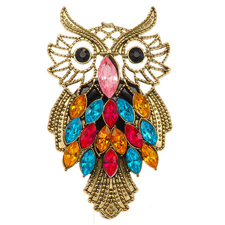 Big Owl ID Badge Reel - SassyBadge