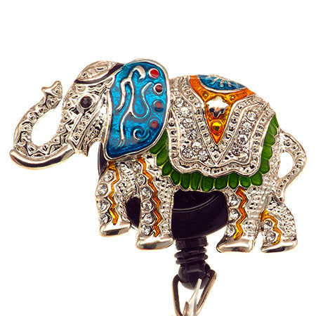 Fancy Elephant ID Badge Reel - SassyBadge