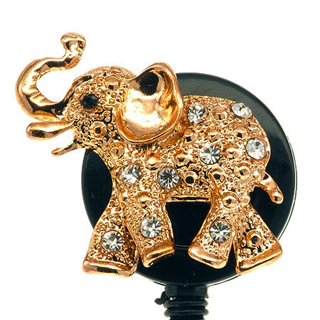 Gold Elephant ID Badge Reel - SassyBadge