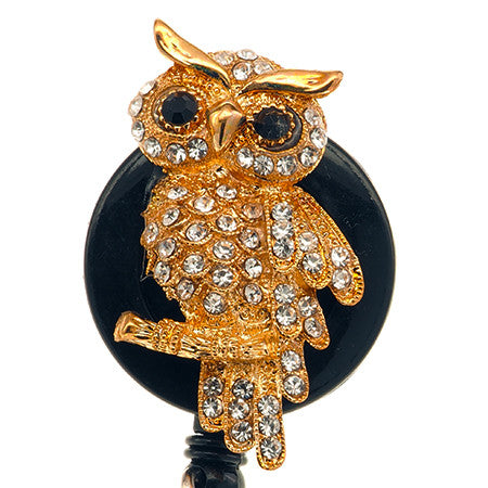 Gold Owl ID Badge Reel - SassyBadge