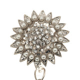 Rhinestone Pearl Sunflower ID Badge Reel - SassyBadge
