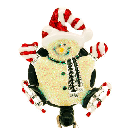 Snowman ID Badge Reel - SassyBadge