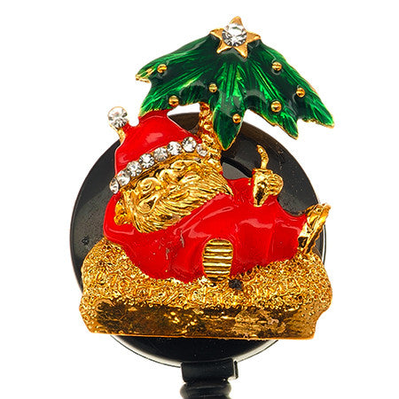 Beach Santa Badge Reel - SassyBadge