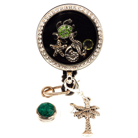 Turtles Life Floating Charm ID Badge Reel - SassyBadge