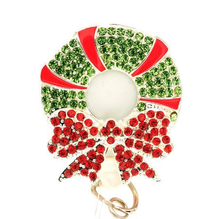 Holiday Wreath ID Badge Reel - SassyBadge