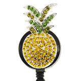 Pineapple on Black ID Badge Reel - SassyBadge