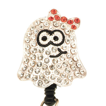 Cute Ghost ID Badge Reel - SassyBadge