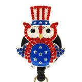 All American Owl ID Badge Reel - SassyBadge