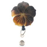 Iridescent Shell Flower ID Badge Reel