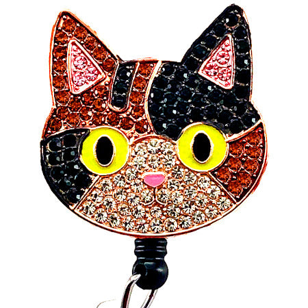 Calico Cat ID Badge Reel