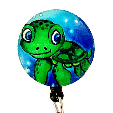 Whimsicals Turtle ID Badge Reel